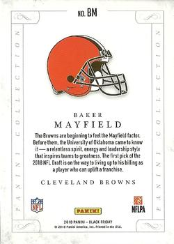 2018 Black Friday Football - Panini Collection Cracked Ice #BM Baker Mayfield Back