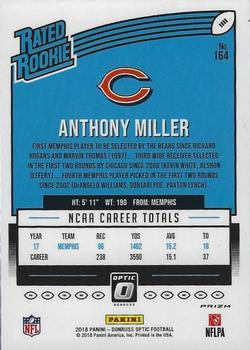 2018 Donruss Optic - Red and Yellow #164 Anthony Miller Back