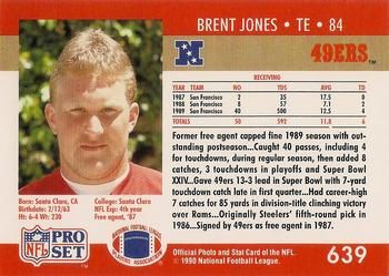 1990-91 Pro Set Super Bowl XXV Binder - Super Bowl XXV 49ers #639 Brent Jones Back