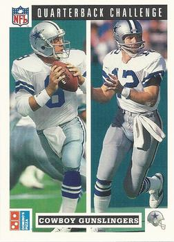 1991 Domino's The Quarterbacks #47 Troy Aikman / Roger Staubach Front