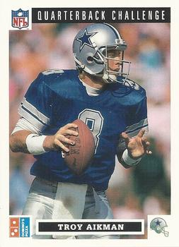 1991 Domino's The Quarterbacks #6 Troy Aikman Front