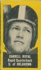 1950 Topps Felt Backs #71b Darrell Royal Front