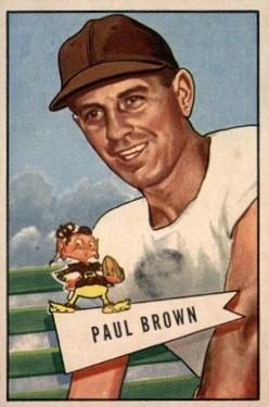 1952 Bowman Large #14 Paul Brown Front