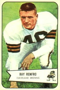 1954 Bowman #64 Ray Renfro Front