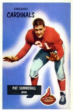 1955 Bowman #52 Pat Summerall Front