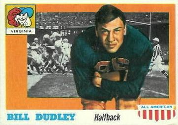 1955 Topps All-American #10 Bill Dudley Front