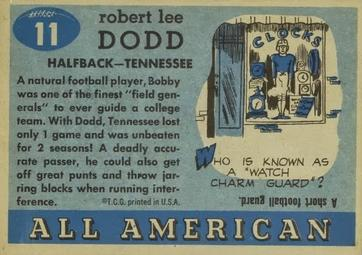 1955 Topps All-American #11 Bobby Dodd Back