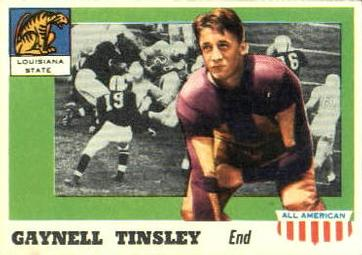 1955 Topps All-American #14 Gaynell Tinsley Front