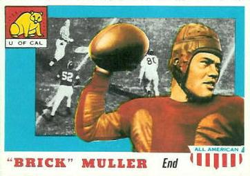 1955 Topps All-American #22 Brick Muller Front