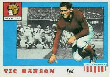 1955 Topps All-American #57 Vic Hanson Front