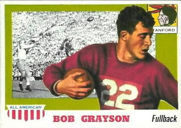 1955 Topps All-American #5 Bob Grayson Front