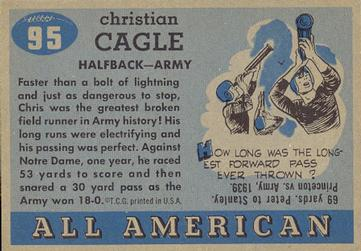 1955 Topps All-American #95 Chris Cagle Back