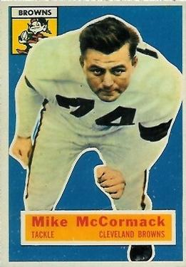 1956 Topps #105 Mike McCormack Front