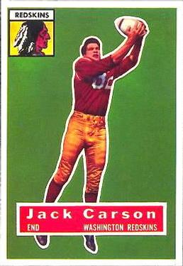 1956 Topps #1 Jack Carson Front