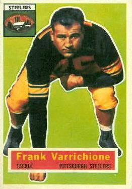 1956 Topps #3 Frank Varrichione Front