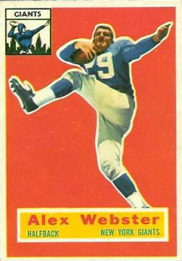 1956 Topps #5 Alex Webster Front