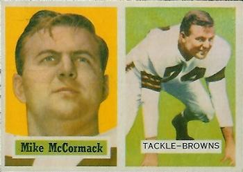 1957 Topps #3 Mike McCormack Front