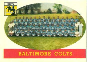1958 Topps #110 Baltimore Colts Front