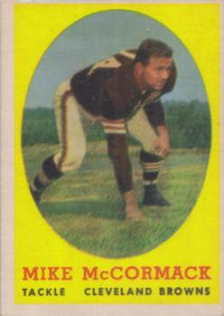 1958 Topps #59 Mike McCormack Front