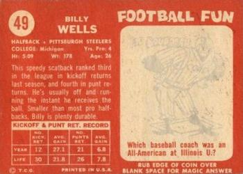 1958 Topps #49 Billy Wells Back