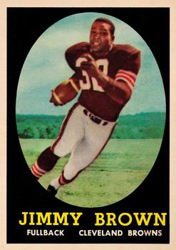 1958 Topps #62 Jim Brown Front