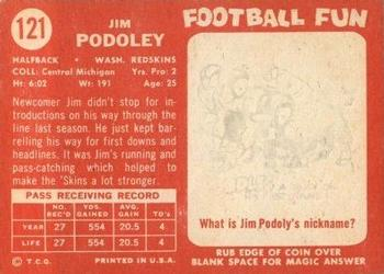 1958 Topps #121 Jim Podoley Back