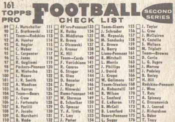 1959 Topps #161 Cleveland Browns Back