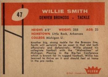1960 Fleer #47 Willie Smith Back