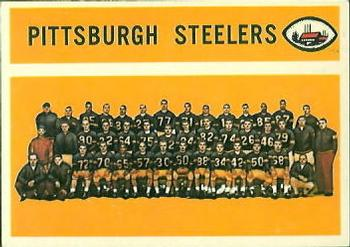 1960 Topps #102 Pittsburgh Steelers Front