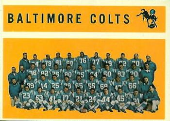 1960 Topps #11 Baltimore Colts Front