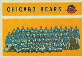 1960 Topps #21 Chicago Bears Front
