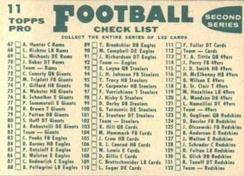 1960 Topps #11 Baltimore Colts Back