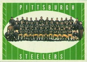 1961 Topps #112 Pittsburgh Steelers Team Front