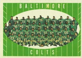 1961 Topps #9 Baltimore Colts Team Front