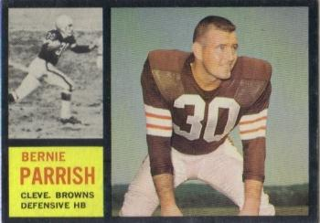 1962 Topps #34 Bernie Parrish Front