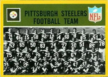 1967 Philadelphia #145 Pittsburgh Steelers Front