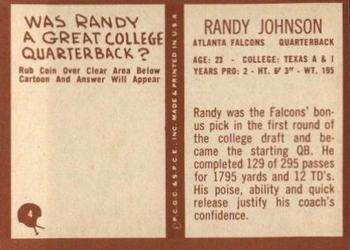 1967 Philadelphia #4 Randy Johnson Back