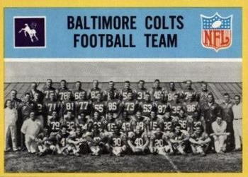 1967 Philadelphia #13 Baltimore Colts Front