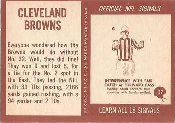 1967 Philadelphia #37 Cleveland Browns Back