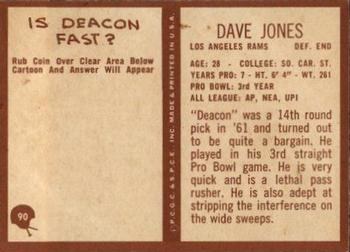 1967 Philadelphia #90 Deacon Jones Back