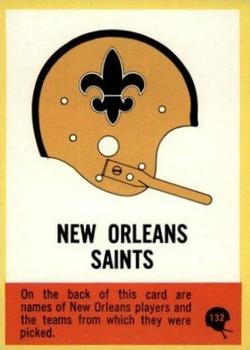 1967 Philadelphia #132 Saints Roster Front