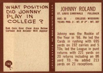 1967 Philadelphia #163 Johnny Roland Back