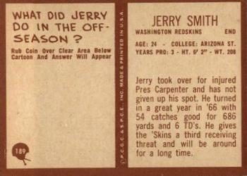 1967 Philadelphia #189 Jerry Smith Back