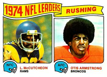 1975 Topps #1 1974 Rushing Leaders - Lawrence McCutcheon / Otis Armstrong Front