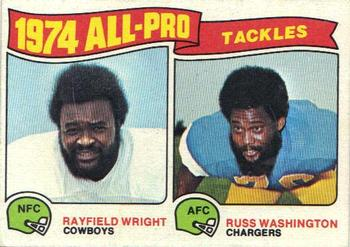 1975 Topps #202 Rayfield Wright / Russ Washington Front