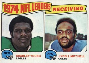 1975 Topps #3 Charle Young / Lydell Mitchell Front