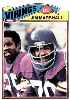 1977 Topps #105 Jim Marshall Front