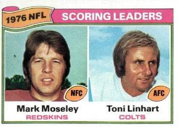 1977 Topps #4 Mark Moseley / Toni Linhart Front