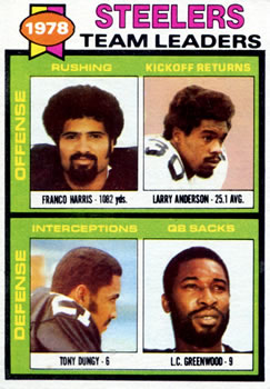 1979 Topps #19 Franco Harris / Larry Anderson / Tony Dungy / L.C. Greenwood Front