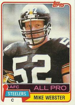 1981 Topps #10 Mike Webster Front